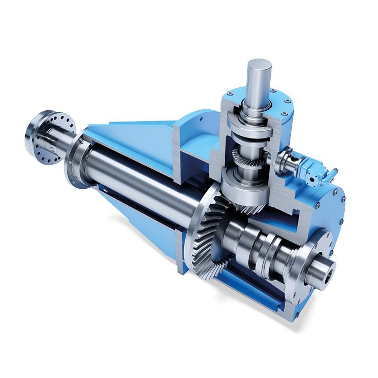 Kegelradgetriebe für Rohrturbine
